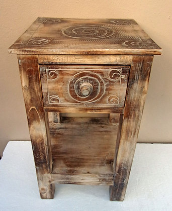 Rustic Lamp Table with drawer - Shabby Chic