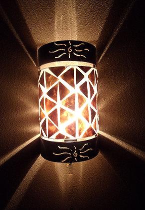 Unusual Gold Shell & Antique Metal Wall Lamp Shades -Set of 2 Bali Lamp Shades