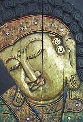Hand Painted 4 Piece Buddha Wall Art