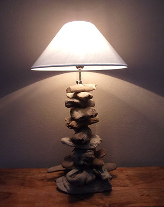Adjustable Tall  Driftwood Lamp
