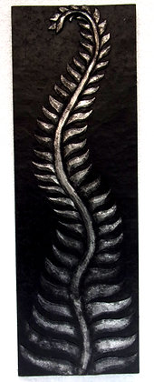 Large 3D Silver Fern Wall Plaque