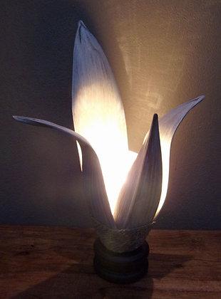 Banana Palm Leaf  Shabby Chic Table Lamp