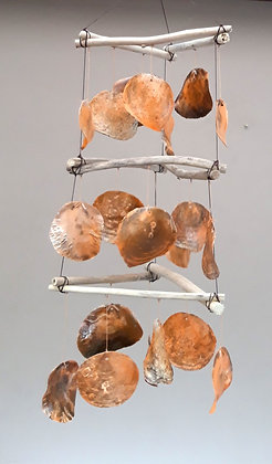 Capiz Shell Giant Orange Shell Wind Chime Wind chime Mobile