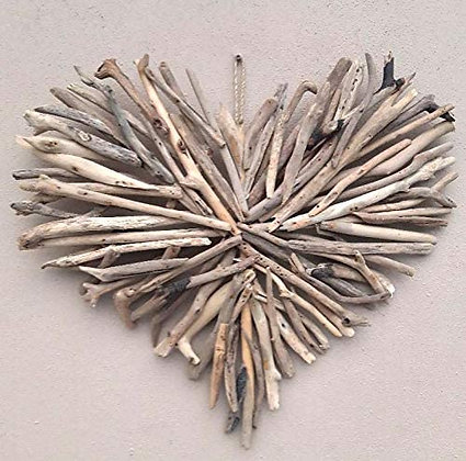Large Driftwood Heart Wall Plaque 60cm