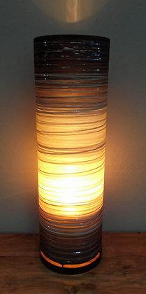 Unusual Coffee Beige Brown Cylinder Lamp -Large