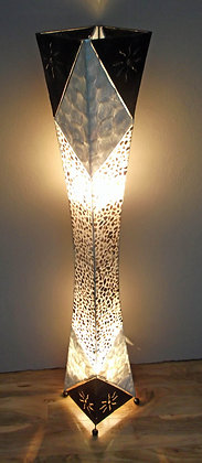 Art Deco Style Shell & Metal Bali Lamp 148cm