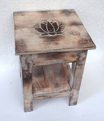 Shabby Chic Style Lotus Flower Lamp Table