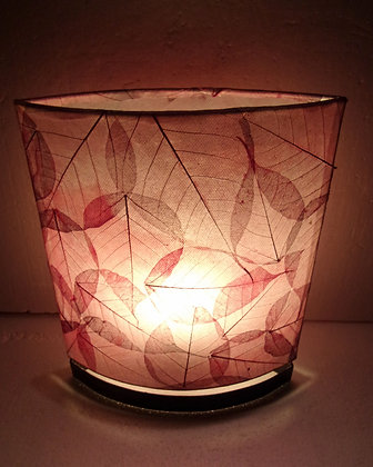 Unusual Hand Made Red Leaf Lamp 30cm
