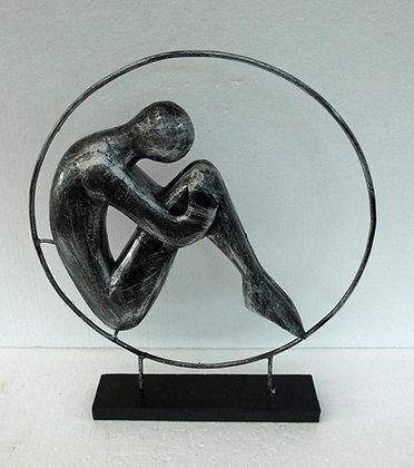 Unusual Contemporary Sitting man Ornament