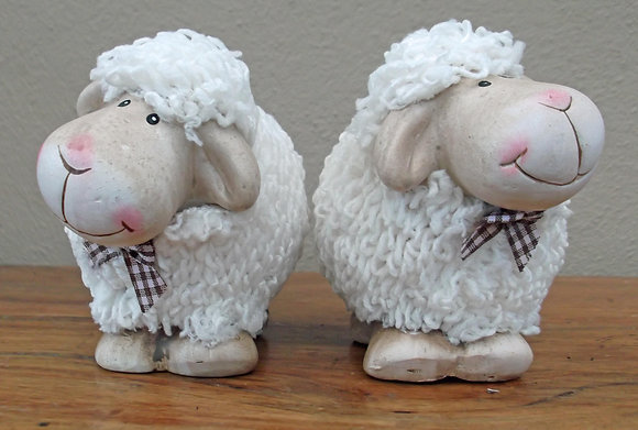 Pair of Happy Shaggy Sheep