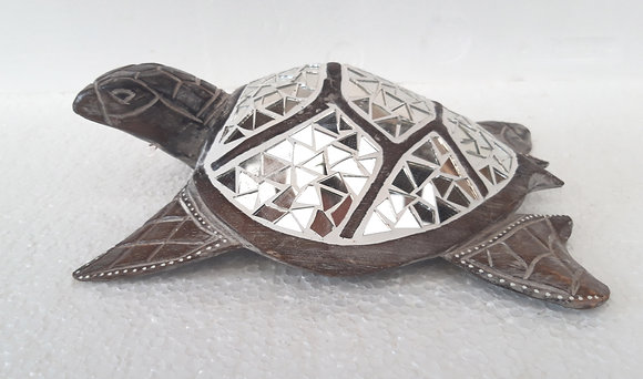 Unusual Hand Made Mirror Turtle  26cm