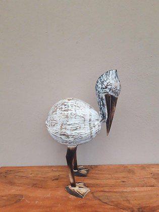 Shabby Chic Coconut Standing  Pelican