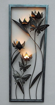 Unusual Flower & Butterfly 3D Metal T Light Art