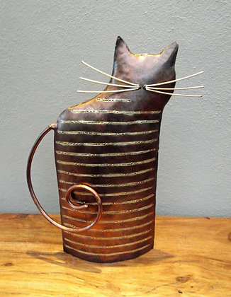 Copper Abstract Metal Cat T Light Holder