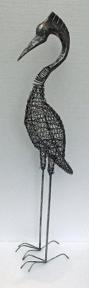 Silver Nodding Heron - Metal spring Bird 85cm
