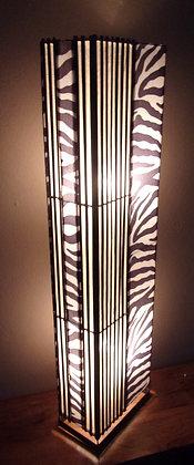 Zebra Floor Lamp 100cm Black & White Lamp