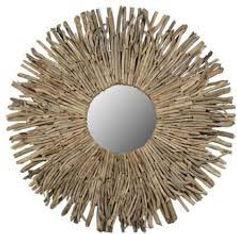 Hand Made Driftwood Mirror
