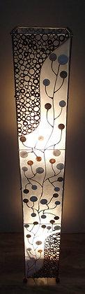 Shell coin Tree & Bamboo Slice Floor Lamp 150cm