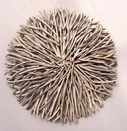 Giant Driftwood Circle Wall Plaque
