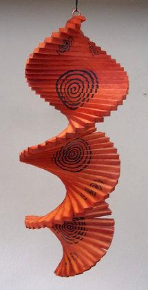 Wind Twister Large Orange Black Spinner