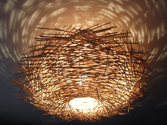 Birds Nest ceiling lamp shade -Twisted Rattan 58cm