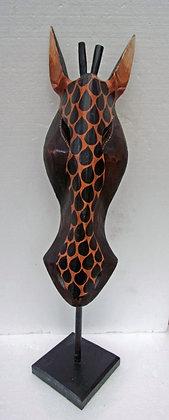 Hand Made Giraffe Mask on Stand  - No 2
