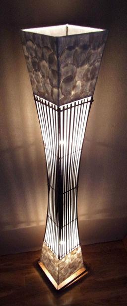 Unusual Lamps:white shell black bamboo 1.5 1.JPG,Lighting