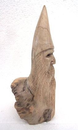 Carved Wooden Wizard