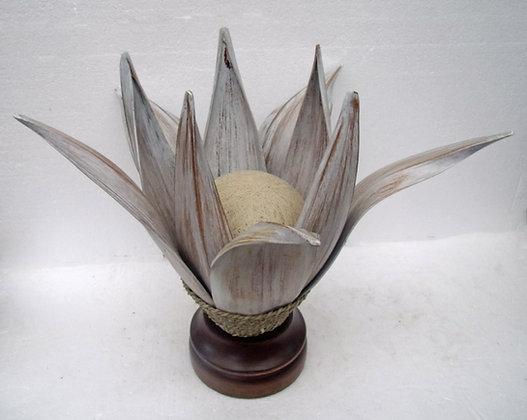 Shabby Whitewash Banana Palm Lamp Large