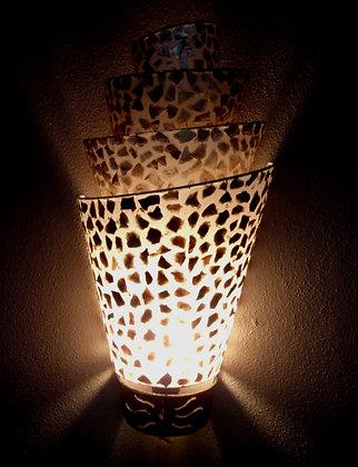 Natural Gold Shell Wall Lamp Shades set of 2