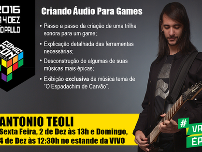 A Game Audio presentation at CCXP 2016