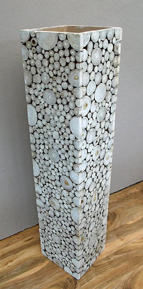 Natural Wood Slice Contemporary Decorative Vase