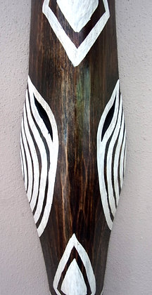 Contemporary Zebra Tribal Mask  100cm