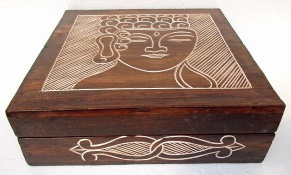 Hand Made Buddha Pattern Trinket Box