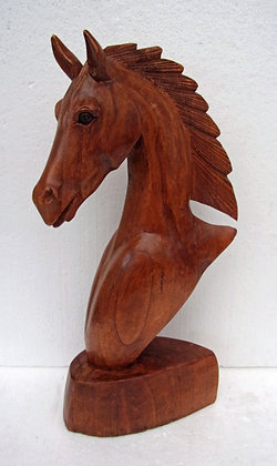 Hand Carved Wood Horse Head Large 40cm