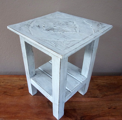 Rustic Lamp Table White wash Shabby Chic