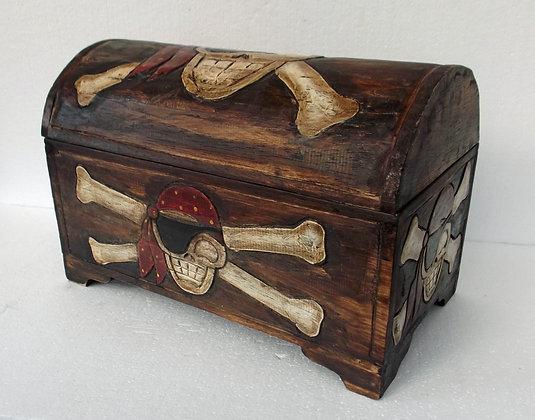 Unusual Rustic Pirate Treasure Chest - small