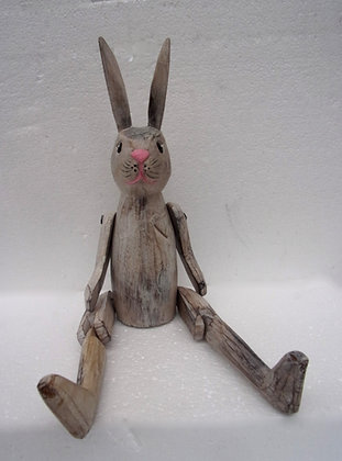 Rustic Rabbit Shabby Chic Shelf Sitter Large 40cm