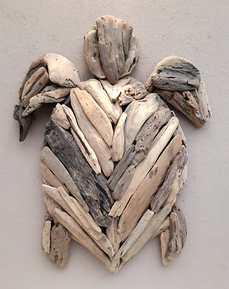Driftwood Turtle Wall Plaque