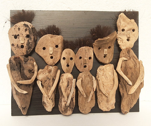 Hand Made Driftwood Primitive Wall Art