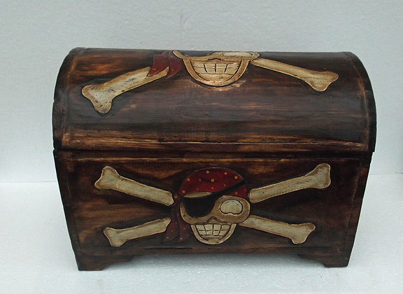Unusual Rustic Pirate Trunk - Large