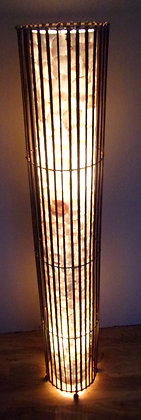 White Shell & Bamboo Cylinder Lamp 150cm