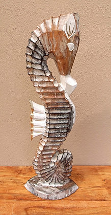 Shabby Chic Seahorse -Hand Carved & Painted 60cm