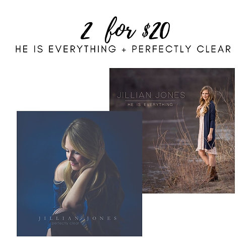2 for $20 CD Combo: He Is Everything + Perfectly Clear