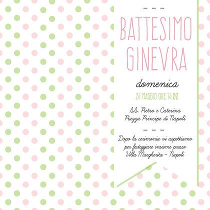 Battesimo Girl verde-rosa