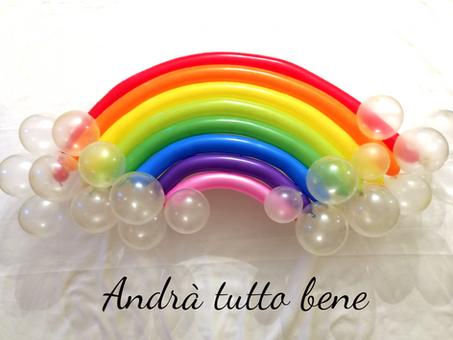 Come creare un arcobaleno di palloncini