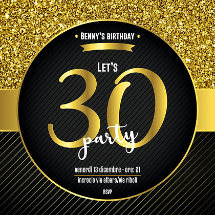 Invito 30th Gold