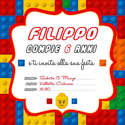 Invito Lego Party