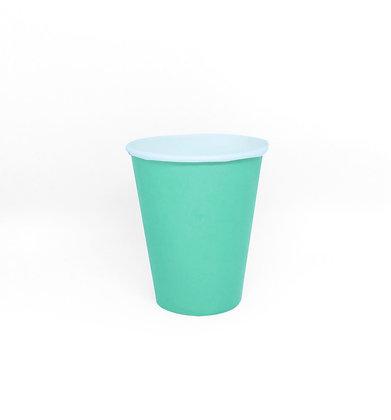 8 Bicchieri verde acqua
