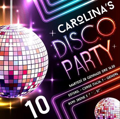 Invito Disco Party